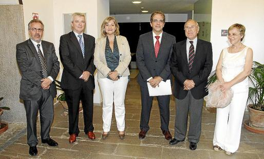 Andreu Ramis, Llorenç Julià, Isabel Cerdà, Rafel Bosch, Fernando Alzamora y Joana Maria Palou.