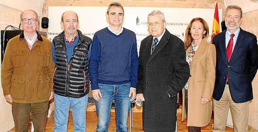 Juan González de Chaves, Jaime Galera, Tomeu Fiol, Rafael Durán, Emma Arancibia y Jesús Lanza.