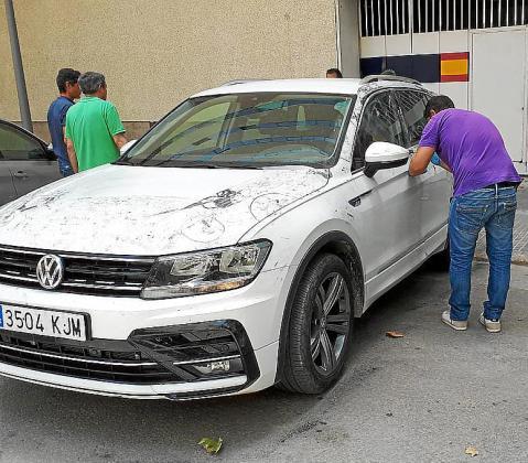 El coche con el que trasladaron al cineasta a Son Espases.