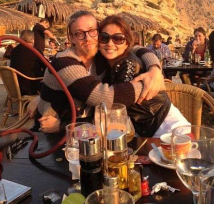Guti y Romina, este pasado enero en Eivissa.