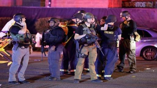 La Policía acudió al lugar de los hechos tras el tiroteo.