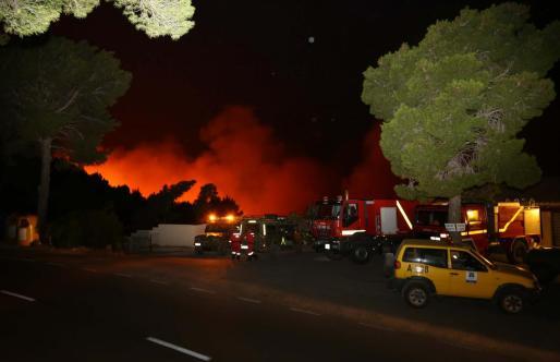 Imagen de archivo del incendio.