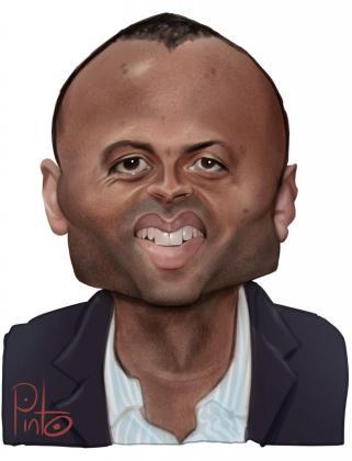 Caricatura de Maheta Molango.