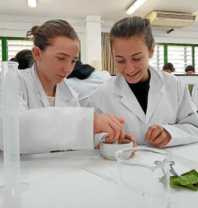Alumnos de 2º curso de la ESO del IES Calvià visitaron este martes la UIB, donde asistieron a una charla de orientación vocacional, participaron en talleres y visitaron el campus. En los talleres se incluyó una actividad de extracción de ADN.