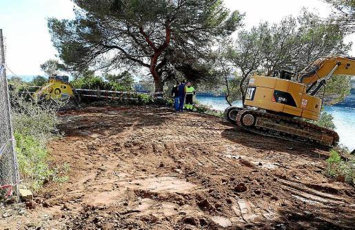 La demolición del chalet ubicado junto al mar se ha realizado estos días.