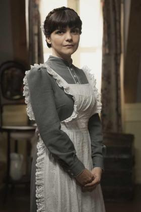 Agnès Llobet, caracterizada como el personaje de Laura.