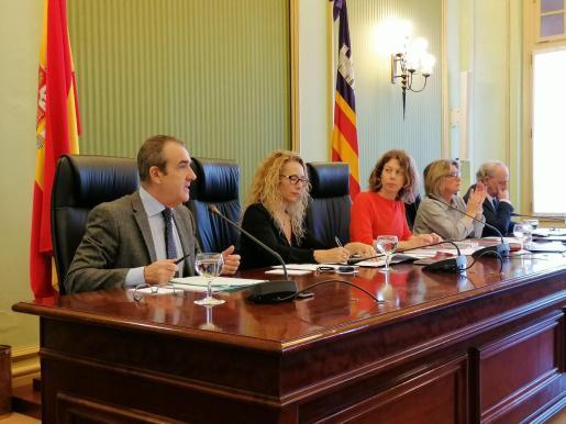 Juan Pedro Yllanes, durante su comparecencia en la Comisión de Economía del Parlament de les Illes Balears