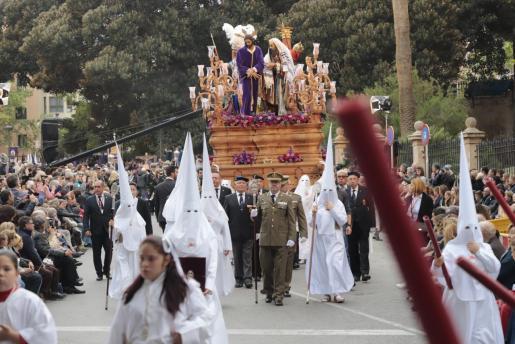 Imagen de una de las procesiones de la Semana Santa de Palma.
