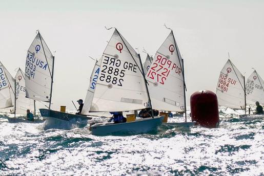 Imagen de la flota en la primera jornada de competición.