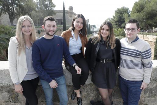 Estela Barreal, Marino Talavante, Daniela Mena, Ariadna Bou y Eduardo Cifre.