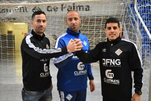 Joao, Vadillo y Hamza unen sus manos en el Palau d'Esports de Son Moix.