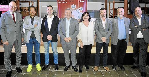 Antoni Riera, Miquel Fluxà, Miquel Àngel Mateu, Virgilio Moreno, Margalida Valcaneras, Francesc de Borja Crespí, Pere Pascual y Pep Verger.