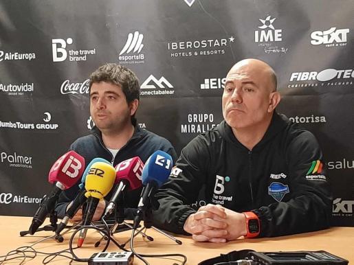 Jordi Riera y Félix Alonso, durante la rueda de prensa de este viernes.