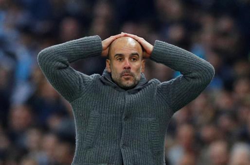 Pep Guardiola, entrenador del Manchester City, durante un reciente partido de la Premier League.