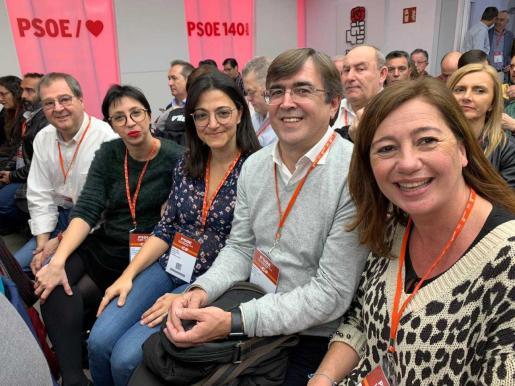Antich y Armengol durante la reunión del Comité Federal del PSOE en Madrid.