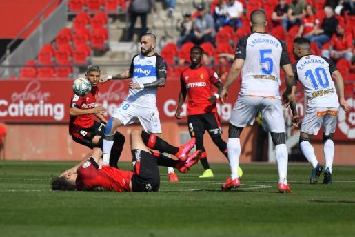 Imagen del encuentro disputado esta jornada entre el Real Mallorca y el Deportivo Alavés.