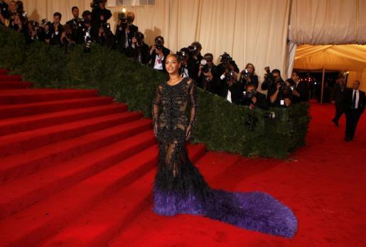 La cantante Beyonce, durante una gala solidaria reciente.