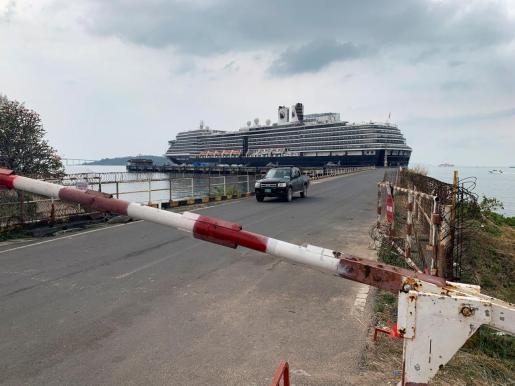 Vista general del crucero Westerdam.