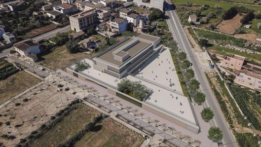 Imagen simulada del nuevo colegio de Campos.