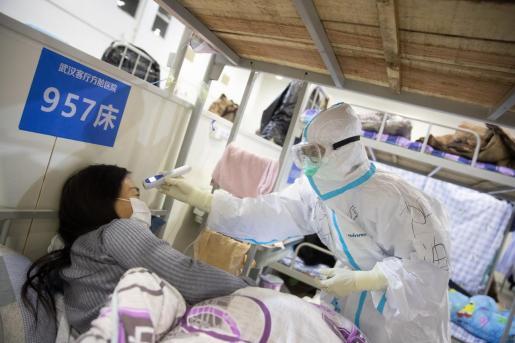 Imagen de un hospital de Wuhan.
