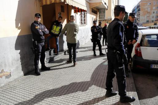 Imagen de una operación policial en Son Gotleu.