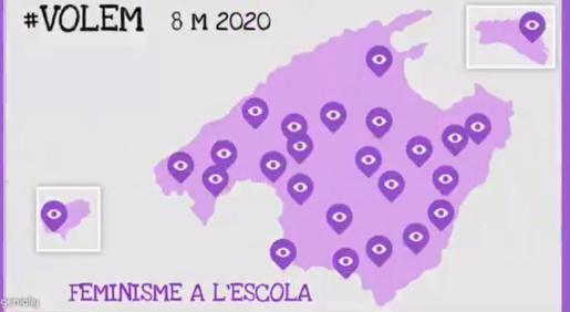 Mapa de los centros educativos adheridos a la iniciativa.