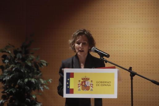 La nueva delegada del Gobierno en Baleares, durante su discurso en su toma de posesión.