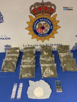Esta es la droga que se incautó a los detenidos en Palma y Banyalbufar.
