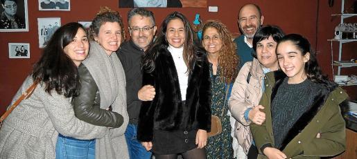 Marisol, Maria José y Juan de Dios Sánchez, Carmen Muñoz, Carmen Gutiérrez, José María Muñoz, Dolors Bizquerra y Lucía Sánchez.