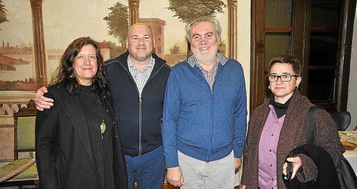 Biel Nadal, Biel Amer, Aránzazu Miró y Dora Muñoz.