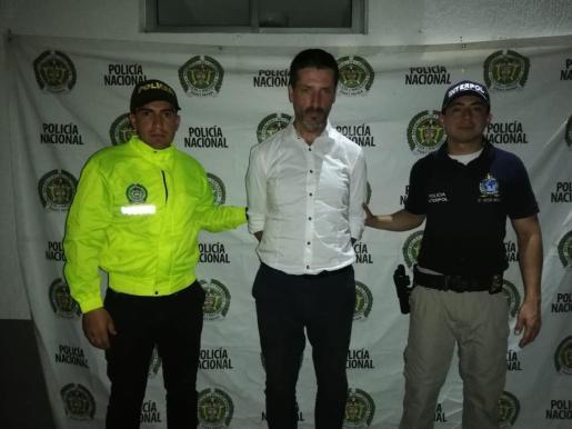 Carlos García Roldán tras ser detenido en Colombia, donde estaba huido.
