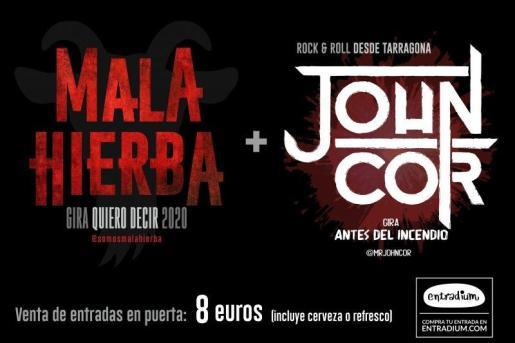 Concierto de Mala Hierba y Jogn Cor en La Movida.