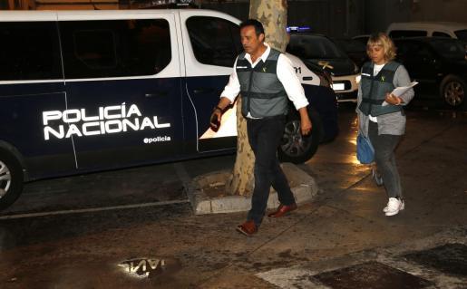 La Policía Nacional actuando tras el asesinato de Campos.