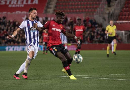 Lumor, en una imagen captada en el encuentro que disputó el Real Mallorca ante el Valladolid.