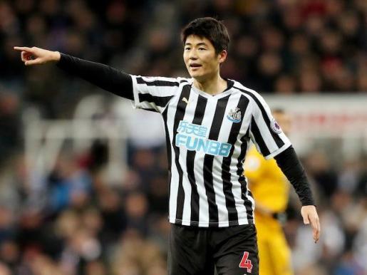 Ki Sung-Yong, en un partido con el Newcastle.