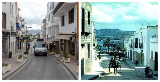 El antes y el después del Carrer Ample de Sant Antoni.
