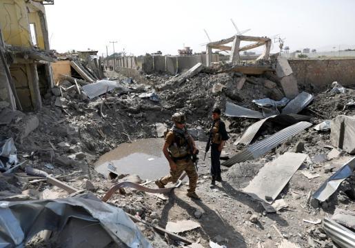 Imagen de archivo de un atentado que reivindicaron los talibanes en Kabul.