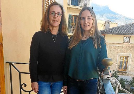 Maria de Lluc Sosa (izquierda) y Marga Forteza en Sóller.