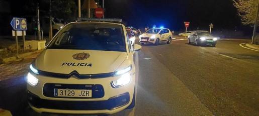 Imagen de archivo de un control de la Policía Local de Sant Antoni.