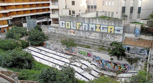 La recuperación de las piscinas de s'Aigua Dolça es uno de los proyectos del Ajuntament de Palma.