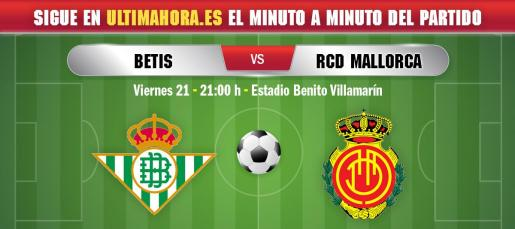 El Real Mallorca visita este viernes el campo del Betis en busca de la primera victoria de la temporada como visitante.