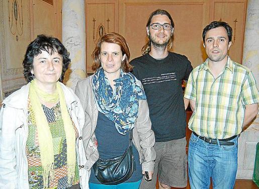 Xesca Gomila, Maria Pau Pérez, Teo Nogara y Javier Negre.