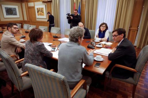 Imagen de la reunión celebrada este domingo en Madrid.