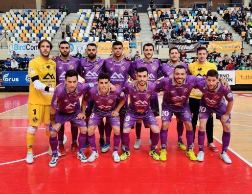 Formación del Palma Futsal que este domingo ganó en Zaragoza.