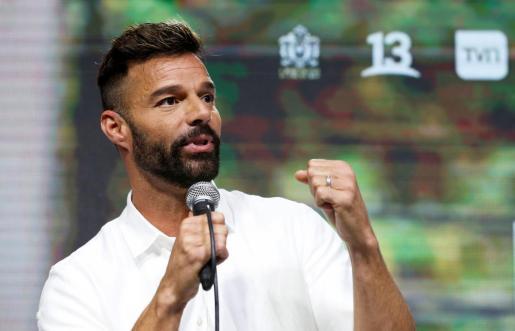 Ricky Martin, durante la rueda de prensa.