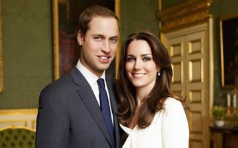 Guillermo de Inglaterra y Kate Middleton, en una imagend e archivo.