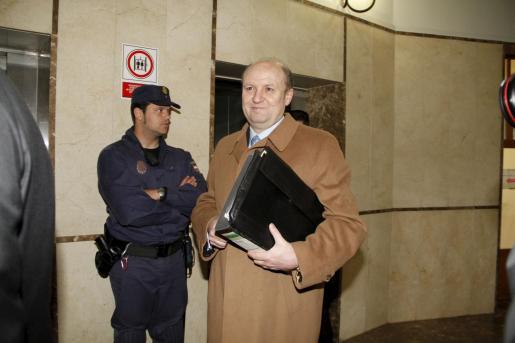 Bartomeu Reus, a su llegada a los juzgados.