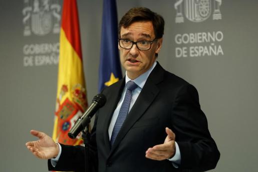 El ministro de Sanidad, Salvador Illa durante una rueda de prensa en Madrid este lunes para informar de la situación de la epidemia de coronavirus.
