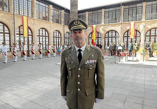 El coronel Galera antes de jurar su nuevo cargo.