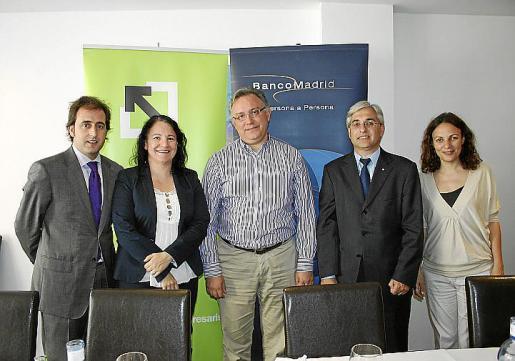 Pau Collado, Irene Llull, Josep Lluís Vidal, Carlos Mulet y Silvana Caló.